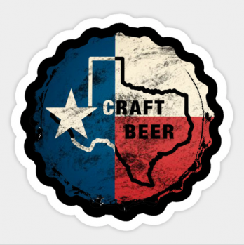 Texas Craft Beer Sticker